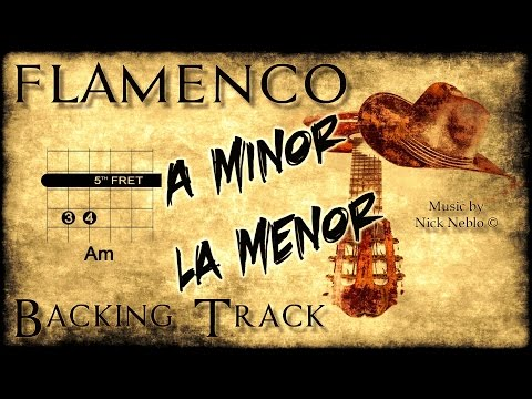 Flamenco Rumba Spanish Backing Track Am G F E (fast)
