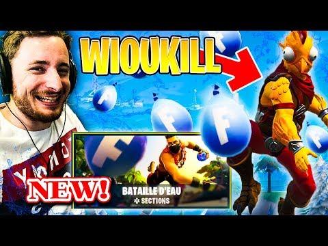 LA NOUVELLE BATAILLE D'EAU AVEC WIOUKILL SUR FORTNITE !!!