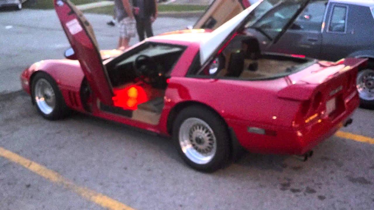 1986 Corvette Lambo Door Underglow Youtube