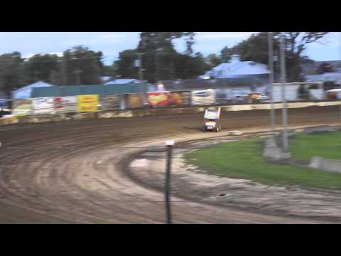 Brian Smith Heat Race Win at Fremont Speedway 9-12-2015