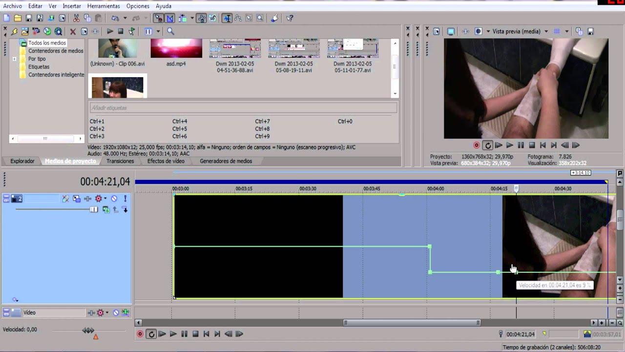 Congelar el tiempo - Sony Vegas Tutorial en Español - YouTube