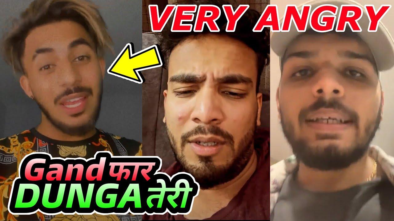 Download @Aamir Majid Vs Elvish Yadav & Lakshay Chaudhary   Elvish Yadav And Lakshay Chaudhary Very Angry