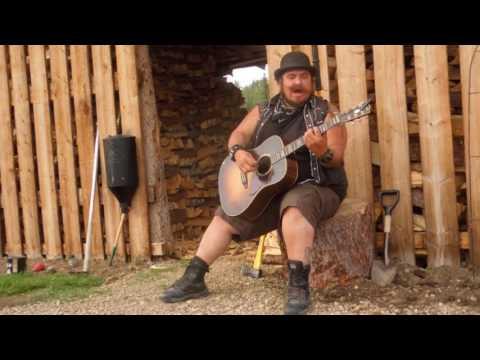 "2016 06 19 George Ireland original song ""UNDERGROUND"" performed at Flat Creek, Yukon"