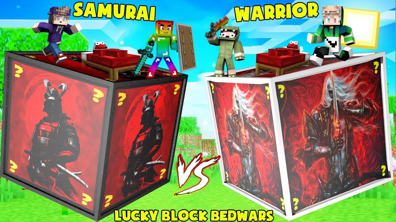 MINI GAME : SAMURAI VS WARRIOR LUCKY BLOCK BEDWARS ** T GAMING THÀNH SAMURAI VIP ĐÁNH BẠI CHIẾN BINH