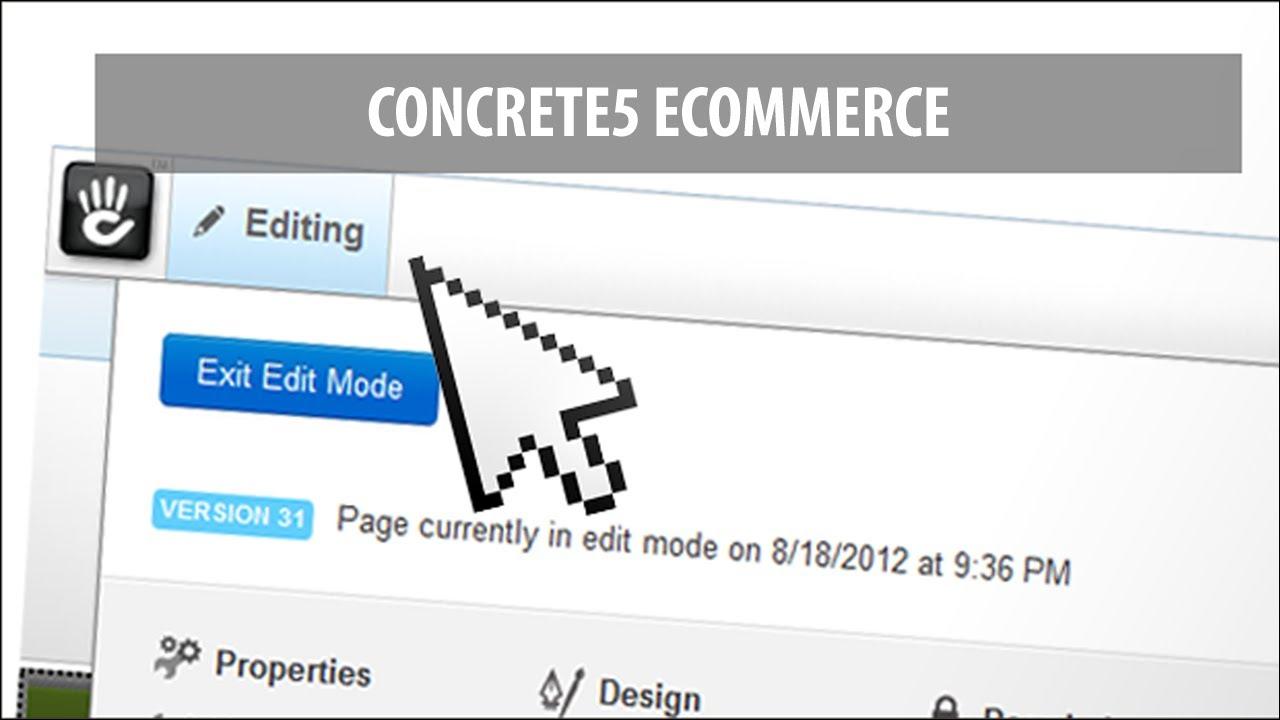 Concrete5 Ecommerce & Shopping Cart - YouTube