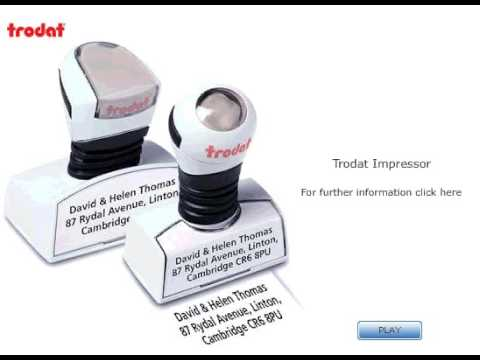 Trodat Impressor Pre-Inked Text Rubber Stamps