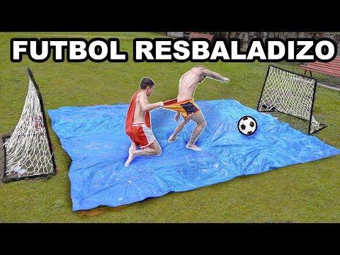 ⚽FÚTBOL RESBALADIZO CHALLENGE⚽ Mundial de fútbol de Bruno y Joel