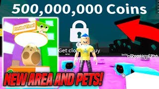 NEW AREA AND NEW PETS UPDATE IN PET SIMULATOR!! *NEW DOMINUS* (Roblox)