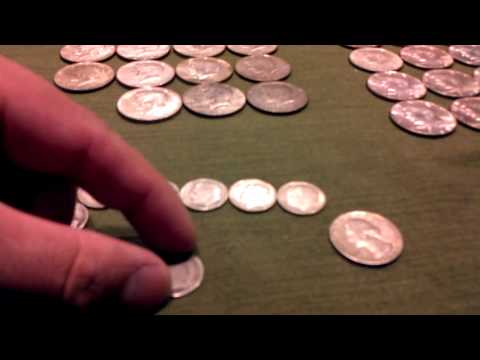 Silver coin finds working as a bank teller