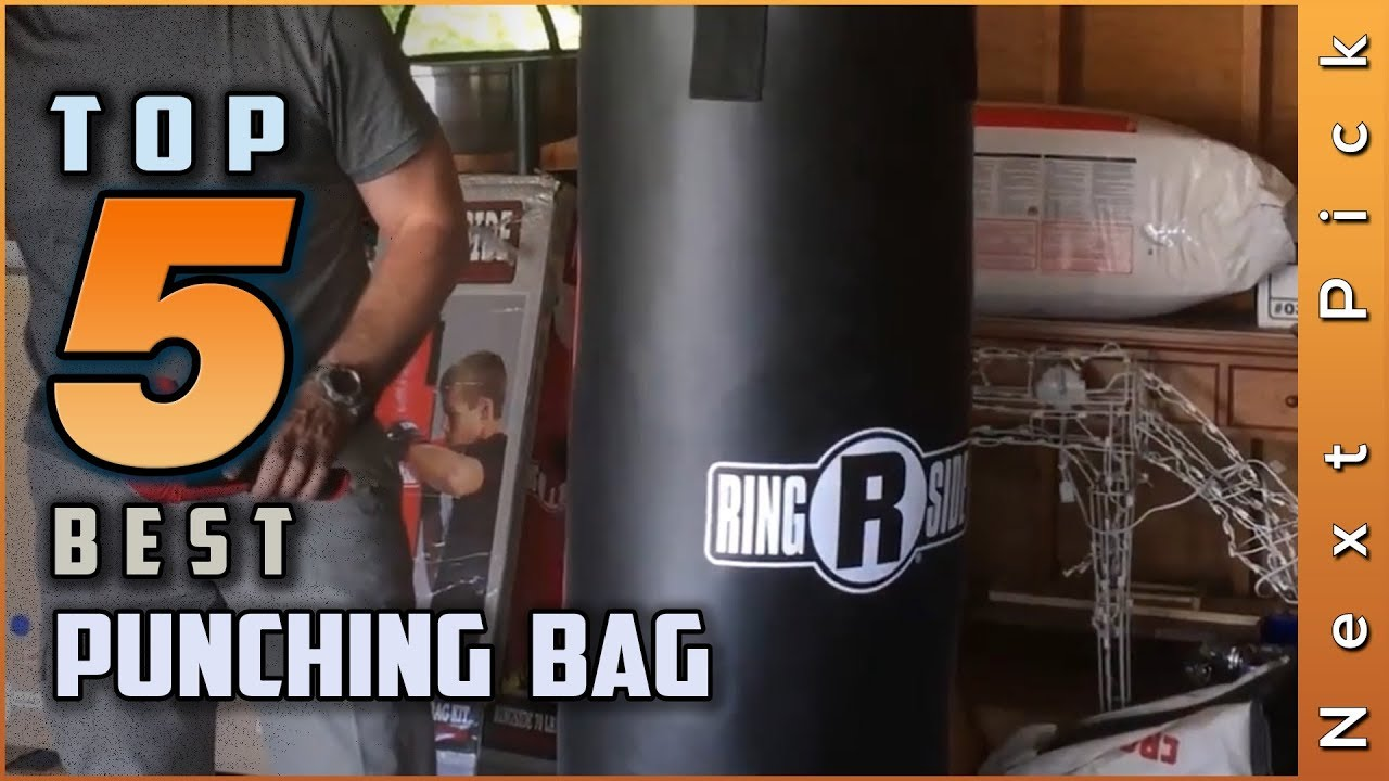 Black Canvas Punching Bag with Chains Brand New by Life gears