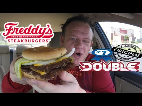 Freddy's ☆#1 ORIGINAL DOUBLE COMBO☆ Food Review!!!