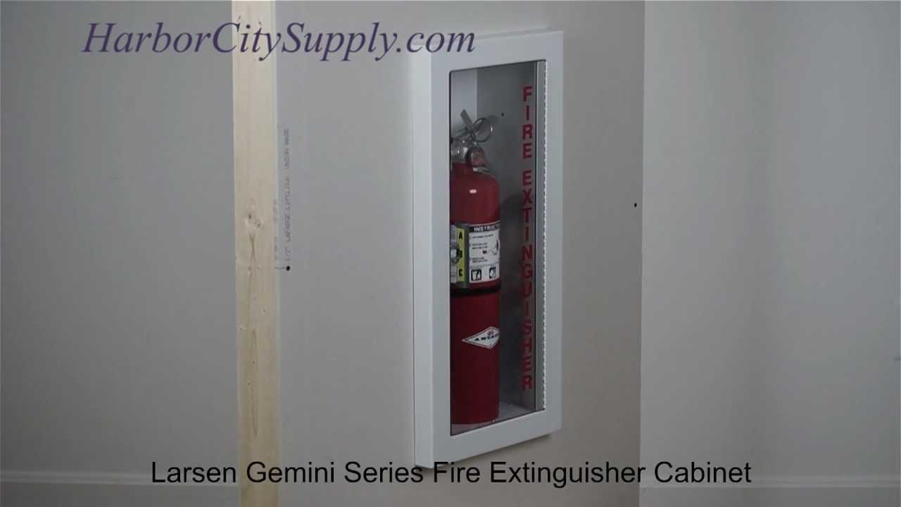 Semi Recessed Fire Extinguisher Cabinet Larsen Gemini