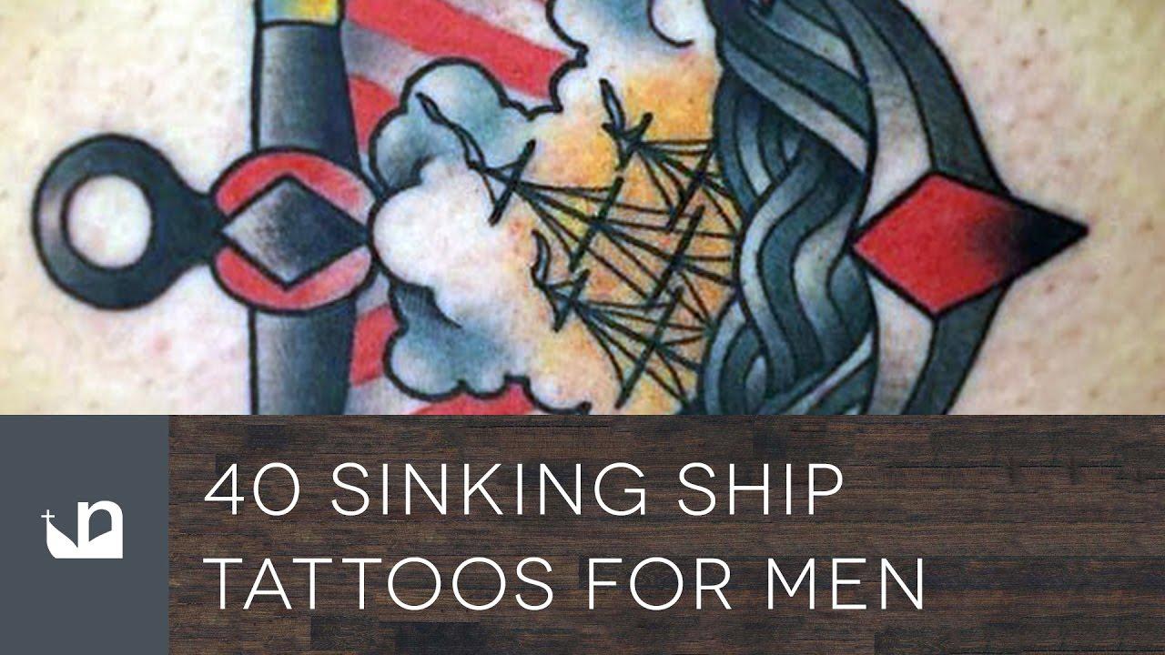 40 Sinking Ship Tattoo Designs For Men – Shipwreck Ink Ideas