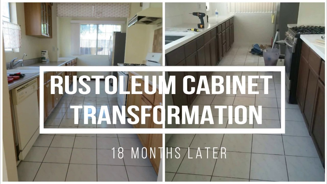 Rustoleum Cabinet Transformation 18 Months Later Youtube