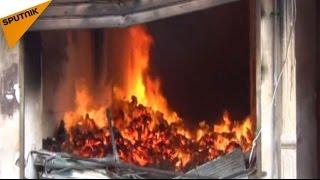 بالفيديو..هذا ما أحرقته الميليشيات المسلحة في حي السكري