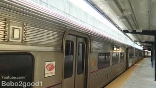 PATCO & NJT Atlantic City Line Train at Haddonfield, NJ Station