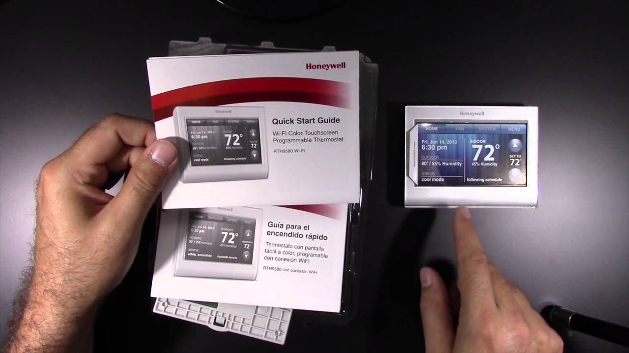 Honeywell Rth9580wf Youtube Facial Muscles Diagram Unlabeled Unboxing- Smart Thermostat Model # -