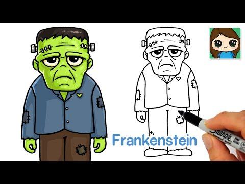How to Draw Frankenstein Easy 🎃Halloween Art