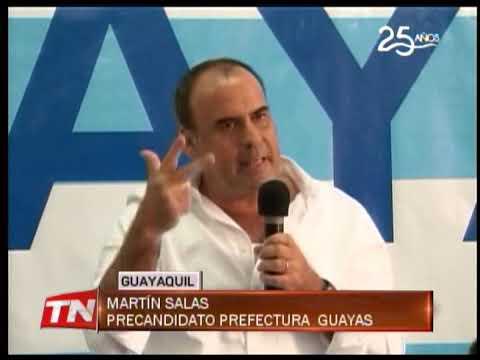Presentan a Martín Salas como precandidato a prefectura Guayas