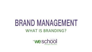 Brand Management Lectures