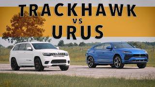 Jeep Trackhawk vs Lamboŗghini Urus | Drag Race Comparison