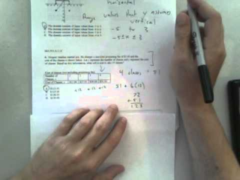 Florida Algebra 1 End of Course (EOC) Exam practice Part 1 - YouTube