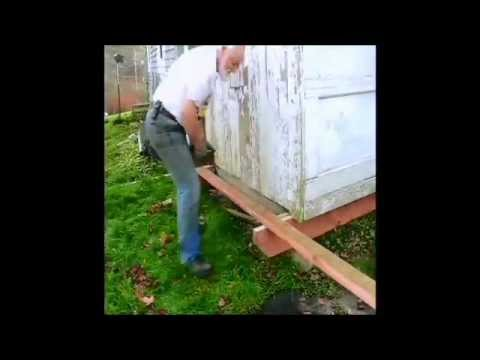 Moving A Storage Shed 2   YouTube