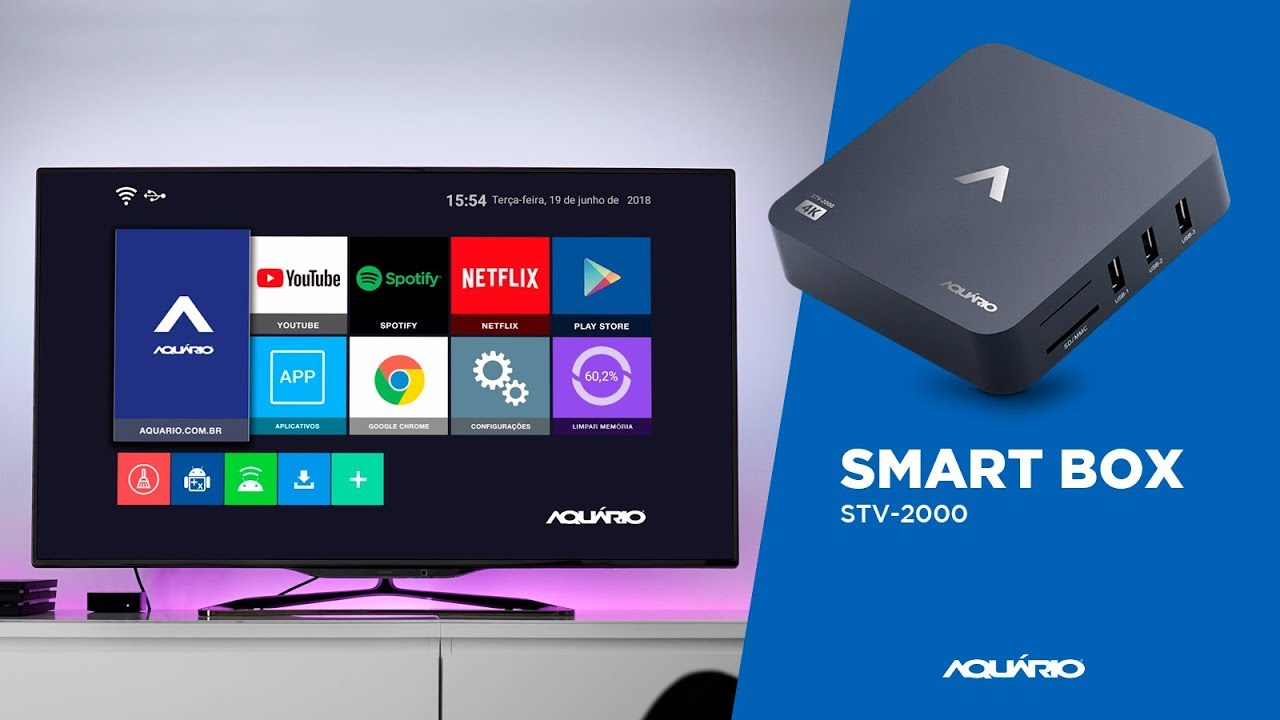 TV Box Smart Aquário STV-2000