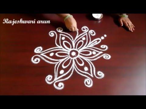 Beautiful Latest Simple Friday Kolam Designs   Small Dots Muggulu Designs   Easy Best  Rangoli Designs