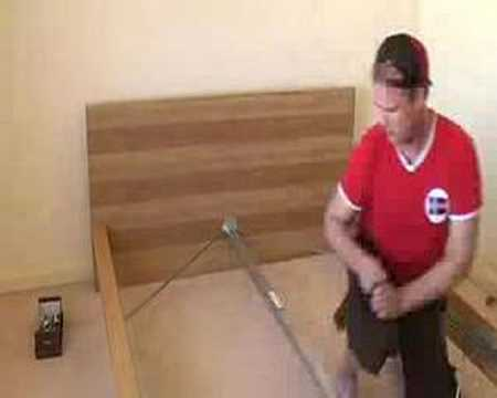 the assembly of an ikea bed youtube. Black Bedroom Furniture Sets. Home Design Ideas