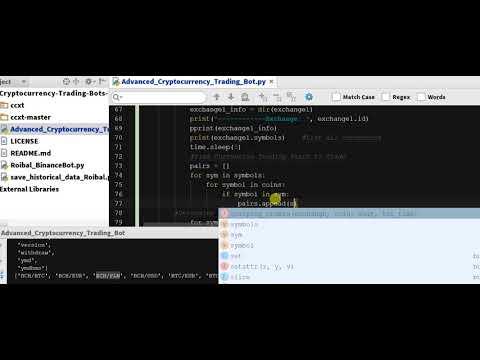 Coding Arbitrage Python - Arbitrage Cryptocurrency Bot In Python  - Code  - Ch 5.17