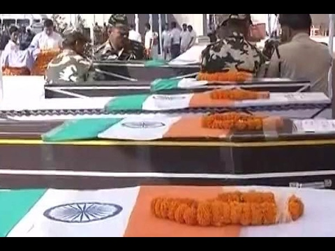 Sukma Naxal Attack: Rajnath Singh and Raman Singh pay tribute to the CRPF martyrs