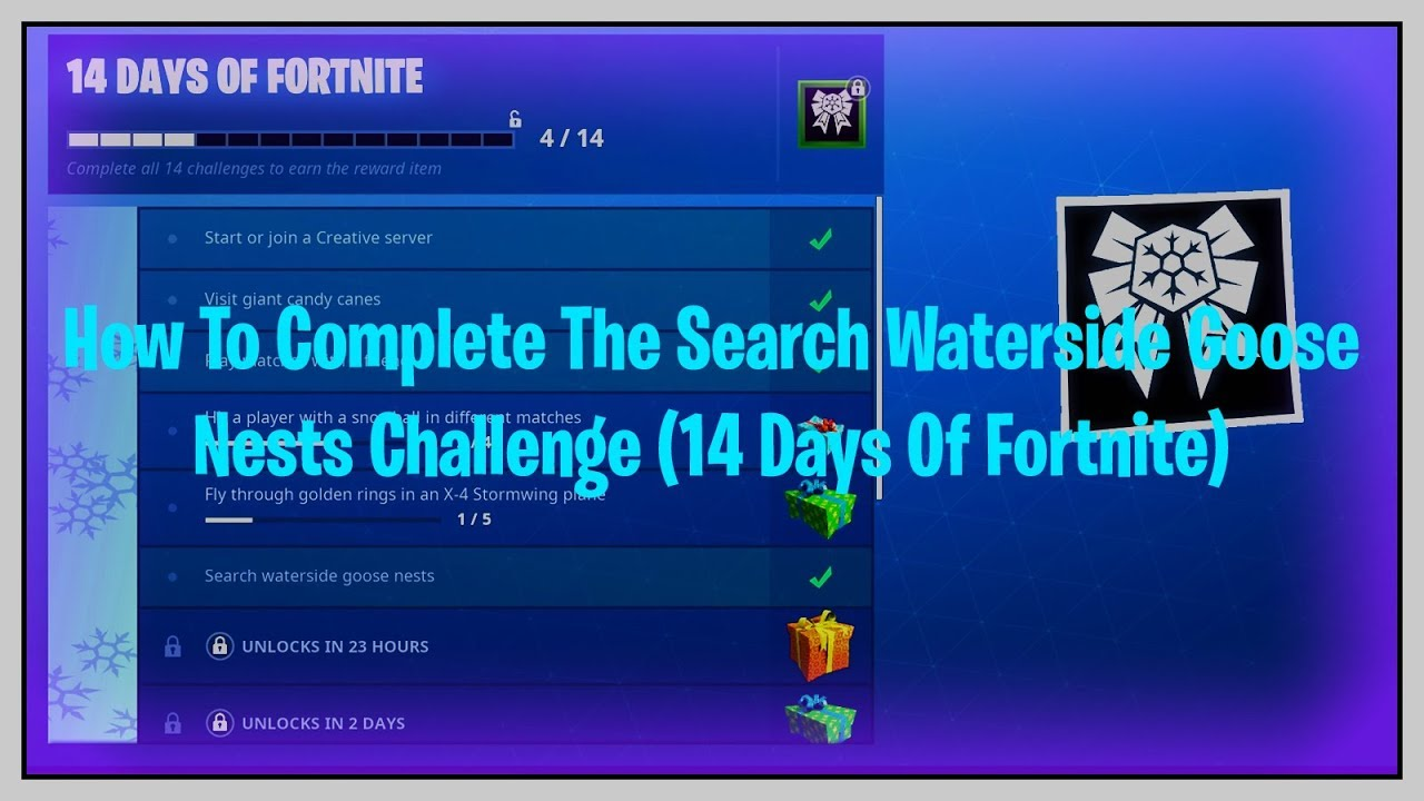 How To Complete The Search Waterside Goose Nests Challenge 14 Days