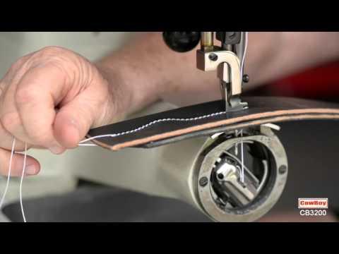 Macchina per cucire di cuoio