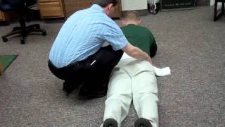 Repeated extension with towel overpressure: Huntington Physical Therapy (HPT) 25703