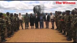 Soldiers salute Madiba
