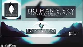 No Mans Sky Youtube Banner Template | Tronarts