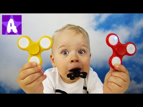 Thumbnail: Learn Colors with Fidget Spinner and Naughty Baby Boy Alex / Learning Videos for Kids