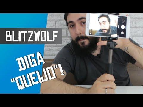 Phone Holder e Carregador com Qualcom Quick Charge BlitzWolf - Unboxing
