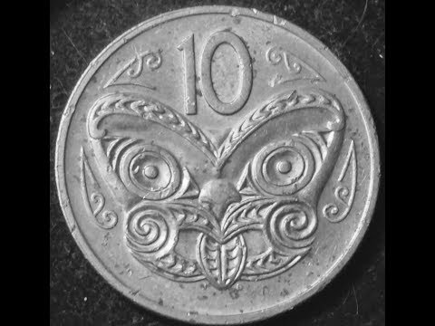 1980 New Zealand 10 Cent Coin- Featuring Maori Mask