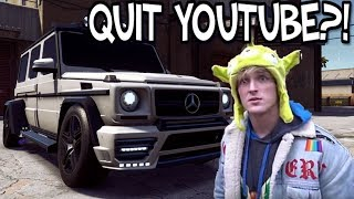 IS LOGAN PAUL QUITTING YOUTUBE!? - Need For Speed Payback