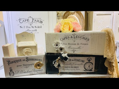 diy's-shabby-french-boxes-using-cardboard-boxes!-trash-to-treasure-recipe-box-&-paper-flowers-(130)