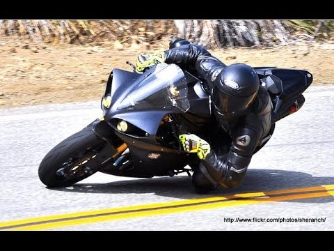 Mulholland HWY - R1 follows Aprilia Tuono, Ducati 1198 and MV Agusta F4 1000