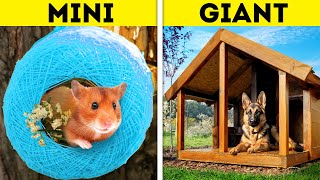MINI CRAFTS VS. GIANT CRAFTS || Dollar Store DIY House Crafts That Will Amaze You
