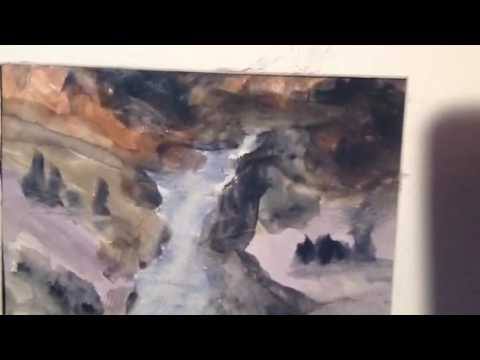 Abstract landscapes Watercolors (in Daniel Novotny style)