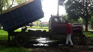Stuck in Mud old dump Truck part 2