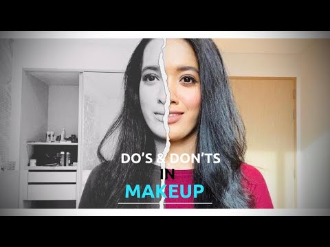do's  don'ts in makeup beginners mistake simple ideas