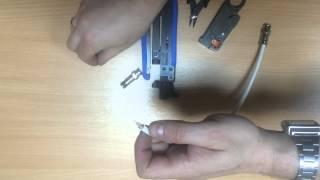 инструкция по использованию обжимного инструмента r tl3 и компрессионного разъема r bnc04