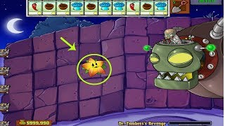 Plants vs Zombies Hack - Starfruit vs Dr. Zomboss vs 999 Zombie