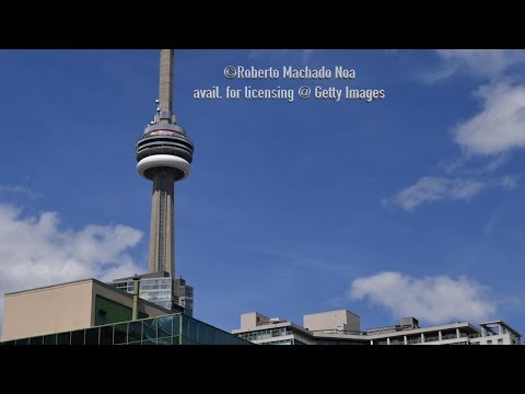 Toronto,Canada: CN Tower and skyline in the best of Time Lapse in Daytime of the Capital of Ontario